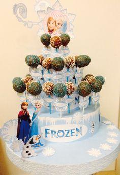 Frozen cake pops tower
