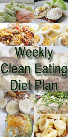 Weekly Clean Eating Diet Plan