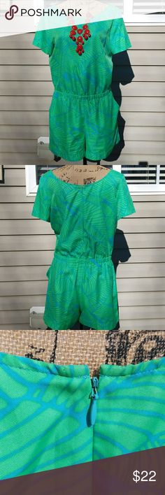 Ann Taylor Loft One Piece Super cute and colorful, see pics. Preloved. Still in excellent condition. Necklace not included (Sorry). Ann Taylor Shorts