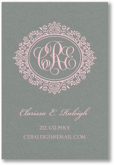 Dark Grey Vertical Calling Cards
