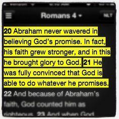 KJV Gods Promises With Flowers site:pinterest.com | ... KJV-Romans 4:20-21 He staggered not at the promise of God through