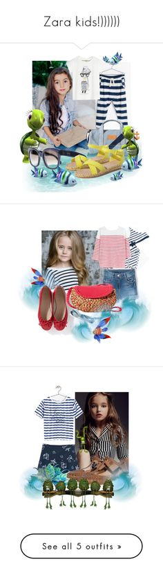 """Zara kids!))))))"" by fashionstar40 ❤ liked on Polyvore featuring Zara, CÉLINE, La Mer and Ulster Weavers"