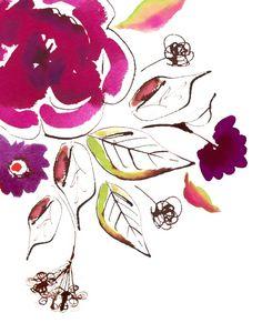 Watercolor 'Rhapsody' by Stephanie Ryan