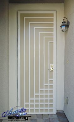 Escher - Wrought Iron Security Screen Door - Model: SD0307 Could also achieve this design by taping and painting a door...
