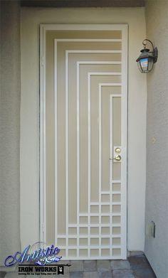 Escher - Wrought Iron Security Screen Door - Model: SD0307