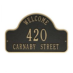 Found it at Wayfair - Welcome 2 Line Arch Address Plaque