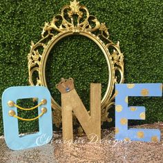 Blue & Gold Prince One Letters by EleniqueDesigns on Etsy
