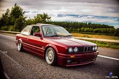 BMW E30 3 series red