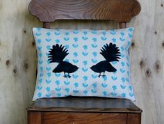 Pair of Fantails - Cushion