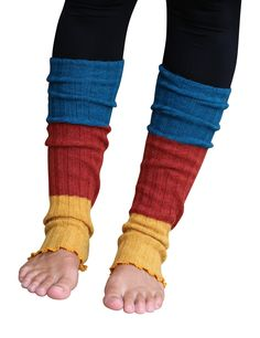 "Lucky Love (TM) Striped Multicolor Reversible Knit Leg Warmers. EXCLUSIVE DISTRIBUTOR & [GUARANTEE]: It's always your ""Lucky Day"" with Lucky Love (TM) brand products! You can relax and shop RISK FREE! Lucky Love (TM) is a premium brand sold only by authorized retailer Make Your Own Luck. Guarantee and our EXCLUSIVE branded packaging you see in the pictures only applies to items purchased from seller Make Your Own Luck. WHAT'S TO [LOVE]: Our legwarmers will easily become your new favorite..."