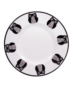 Take a look at this Embossed Owl Rimmed Salad Plate by Home Essentials and Beyond on #zulily today! $8 !!
