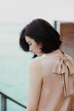Pretty <3 #bow #Milkcocoa #blouse #유행 Korea Fashion, Asian Fashion, Korean Beauty, Asian Beauty, Yoon Sun Young, Young Models, Beauty Editorial, Girl Photography, Beauty Women