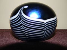 Gorgeous 1985 Terry Crider Art Studio Glass Iridescent Signed Dated Paperweight | eBay  OWNED!