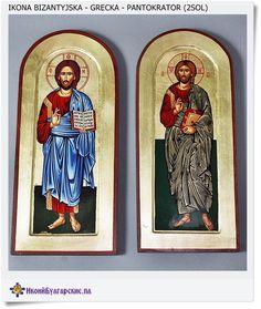 Ikona grecka - Bizantyjska Pan Jezus Błogosławiący - Duża ikona