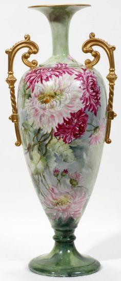 Belleek Vase | 100004: WILLETS-BELLEEK HAND PAINTED PORCELAIN VASE,