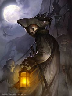 Check out this awesome collection of fantasy art created by CGHUB artist Choi won chun aka Doo . It would be so cool to see some of these images brought to life in live-action form. Pirate Art, Pirate Life, Pirate Skeleton, Pirate Skull, Ghost Pirate Tattoo, Pirate Rock, Pirate Crafts, Pirate Ships, Zombies