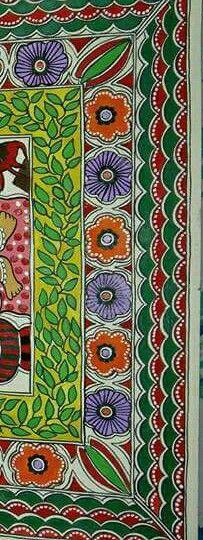Saree Painting, Madhubani Painting, Diy Painting, Ramayana Story, Magic Fingers, Oriental, New Rangoli Designs, Madhubani Art, Indian Folk Art