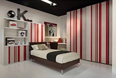 Boys Bedroom Stripped Wallpaper