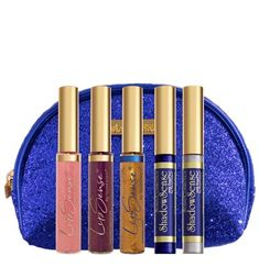SeneGence Limited Edition Glitz & Glam Collection includes 2 NEW LipSense, 1 Gloss and 2 ShadowSense.  The Collection comes in a GLAM royal blue sequin cosmetic bag.  Click to grab YOURS - everyone wants to be glam sometimes!  #glamitup #senegence #glitzandglam #glammakeup #glittermakeup