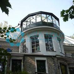 Зимний сад на крыше - это прекрасная возможность увеличить пространство вашего дома! #зимниесады #светопрозрачныеконструкции #остекленениекоттеджей #фасадноеостекленение #беседки #веранды #террасы #строительнаякомпания #villanova #киев