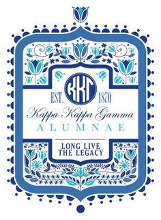 Kappa alumnae t shirt design - love this!
