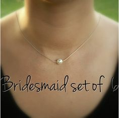 Hey, I found this really awesome Etsy listing at https://www.etsy.com/listing/157508891/bridesmaid-set-of-six-6-pearl-necklaces