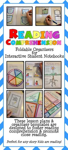 This Interactive Notebook – Reading Comprehension Collection contains 10 lessons with Interactive Foldable Organizers.