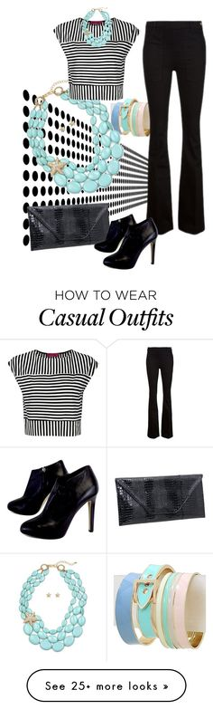 """""""Desk to Dinner: Casual Friday"""" by shoppe23 on Polyvore featuring Frame Denim, Giuseppe Zanotti and Boohoo"""
