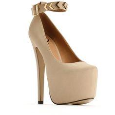 Chevron Ankle Strap Heels