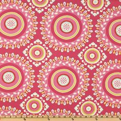 Kumari Garden Jeevan Pink.    fuchsia, red, lime and aqua.                                      Item Number: DW-057                                                On Sale: $7.63 per Yard.      Sale Ends: 3/24/2013                                                                                                 Our Price:      $8.98 per Yard