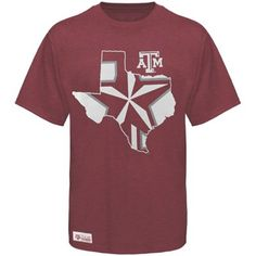 abc4bf25 Majestic Texas A Aggies Inner State Premium T-Shirt - Maroon - Large Texas  A M