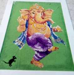 Discover inspirational Ganesh rangoli designs for competition for school, college, office and society. Make Ganesh rangoli designs for competion for Diwali. Ganesh Rangoli, Kolam Rangoli, Beautiful Mehndi Design, Beautiful Rangoli Designs, Rangoli Designs For Competition, Decoration For Ganpati, Rangoli Ideas, Indian Festivals, Mehndi Designs