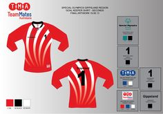 Artwork for the Special Olympics Victoria reserves goalkeeper shirts