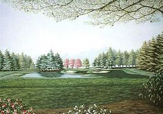 This art print depicts the Tanglewood golf course in Clemmons NC.