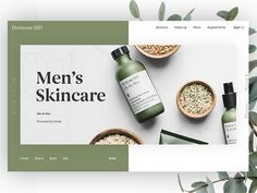 Minimal Skincare Landing Page designed by Nathan Riley for green chameleon. Connect with them on Dribbble; Design Nike, Ad Design, Layout Design, Logo Design, Website Layout, Web Layout, Website Ideas, Cosmetic Web, Cosmetic Design