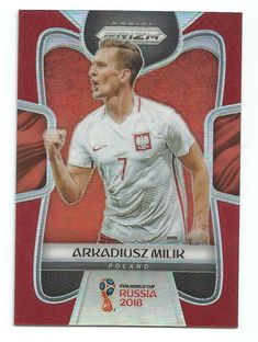 2018 Panini Prizm World Cup Arkadiusz Milik Red Refractor #d 105/149 POLAND  | eBay World Cup Russia 2018, World Cup 2018, Fifa World Cup, Soccer Players, Poland, Waves, Baseball Cards, Sports, Red