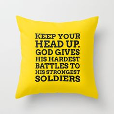 Keep Your Head Up Throw Pillow by cooledition