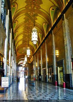 Fisher Building - Stunning art deco arcade - Historic Detroit