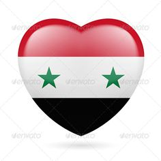 Heart Icon of Syria  #graphicriver