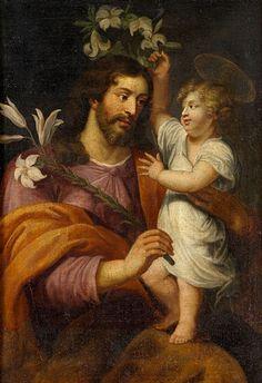 San José y el Niño. Escuela alemana del siglo XVIII.