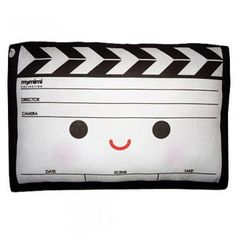 Handmade Gifts | Independent Design | Vintage Goods Mini Movie Clapper Pillow  - For The Home
