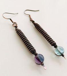 810044b17 Fluorite earrings , Aquarius earrings , Fluorite beads , Fluorite jewelry ,  Birthday gift