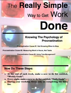 Getting things done made simple. Procrastination causes. #GTD #ADHD