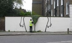 bush - new banksy work in london