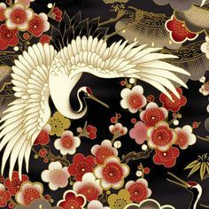 japanese crane kimono - Google Search