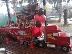 Check out the cool dessert table at thsi Disney Cars birthday party!l! What a cool idea!  See more parties and share yours at CatchMyParty.com #catchmyparty #partyideas #disneycars #darsdesserttable #carsparty #boybirthdayparty Disney Cars Party, Disney Cars Birthday, Cars Birthday Parties, Car Party, Car Themed Nursery, Car Nursery, Disney Nursery, Race Car Birthday, 2nd Birthday