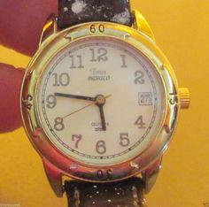 Women's Timex Indiglo Easy To Read Face, DATE Watch #F1 with New Band #Timex #Casual