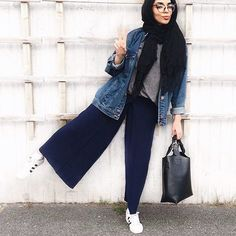Fashion Hijab Casual Clothes New Ideas Hijab Casual, Hijab Outfit, Hijab Chic, Casual Outfits, Casual Clothes, Street Hijab Fashion, Muslim Fashion, Modest Fashion, Fashion Outfits