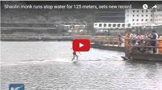 #HeyUnik  Biksu Berlari Di Atas Air Sejauh 125 Meter, Asli Atau Palsu? #Video #YangUnikEmangAsyik