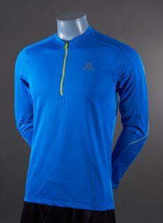 Salomon Trail Runner Long Sleeve Zip T-Shirt - Mens Running Clothing - Union Blue Running Clothing, Mens Running, Trail, Man Shop, Zip, Long Sleeve, T Shirt, Blue, Clothes
